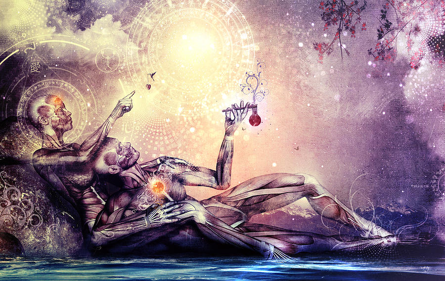 Illustração do despertar espiritual